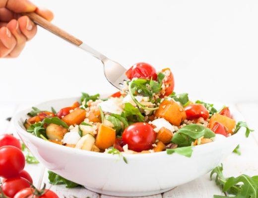 Herbstlicher Salat mit Kürbis