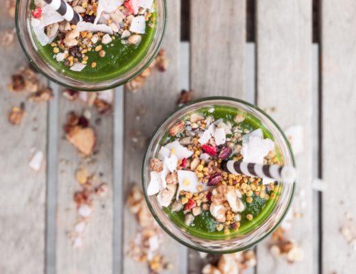 Grüner Smoothie zum Frühstück