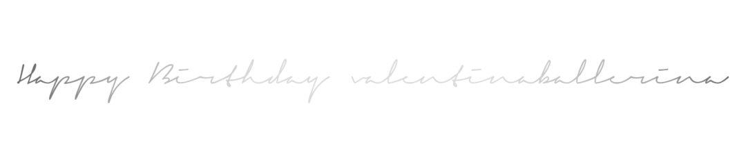 Geburtstag Blog Giveaway valentinaballerina 1 Jahr