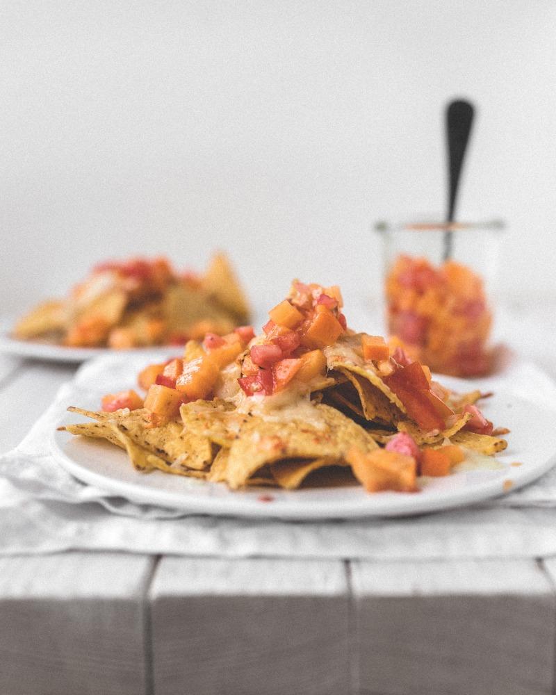 Persimon Kaki Salsa für Tortillas