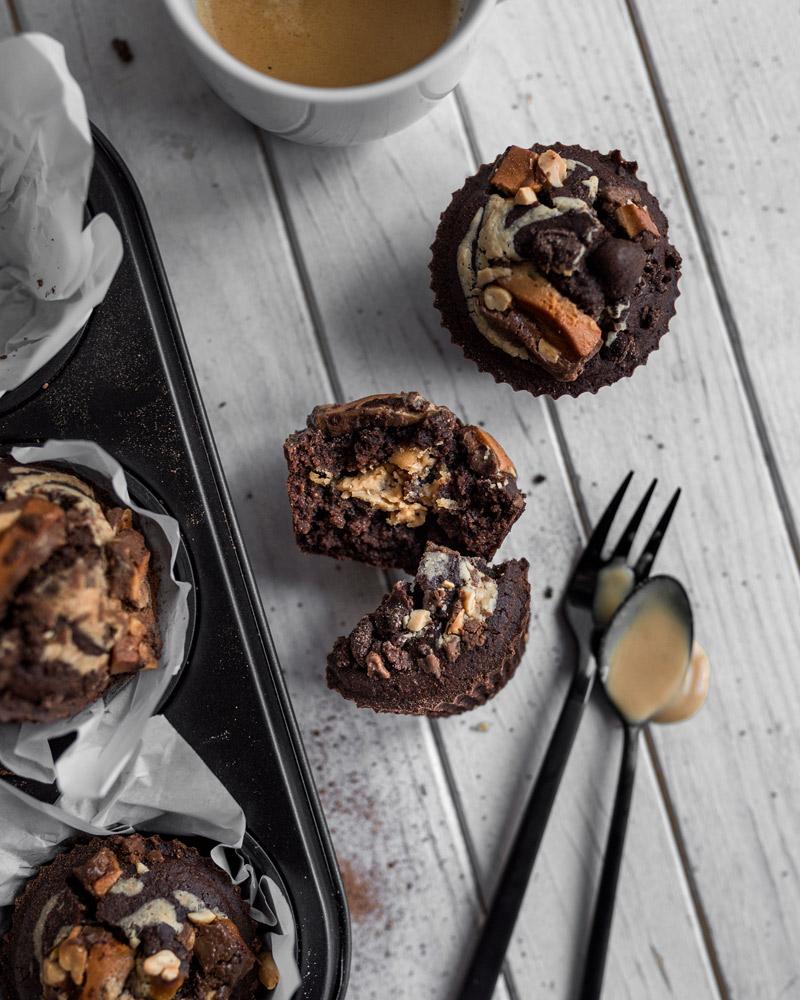 Erdnussbutter Schokoladen Muffins