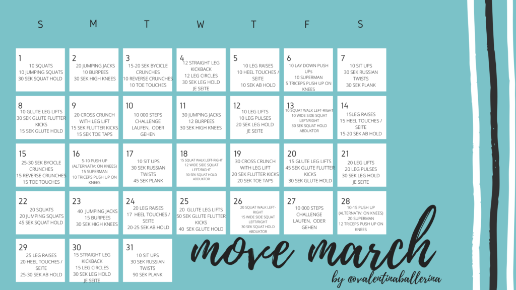 move march workout plan