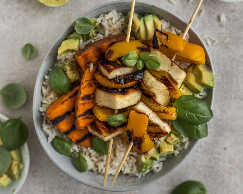 Mittagessen Gesunde Reisbowl
